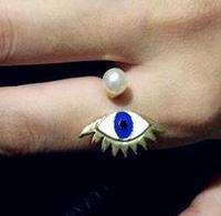 2014 New Fashion Ladies Punk Style Imitation Pearl Eyes Opening Rings