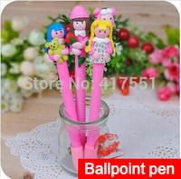 Wholesale stationery (10 pcs/lot),Creative cartoon polymer clay pen,Ballpoint Pen 0.7mm Black ink,school supplies free shipping