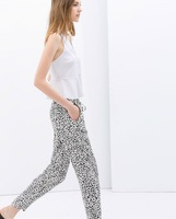 2014 LOOKBOOK/floral prints Trousers lady prints pants  Free shipping Wholesale & Retail