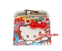 Hello Kitty Coin Purse Mini Purse High Quality PU leather AA2468(about 9cm x 8cm x 3cm) 3pcs/lot