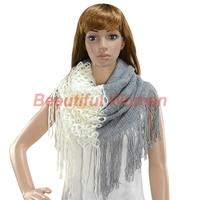 Fashion Women's Winter Warm Knitting Scarf Infinity Tassels Scarf 18596 3F