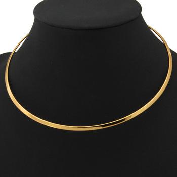 Новинка мужская крутящий момент ожерелье 18 К золото / покрынная платина колье ювелирные ...