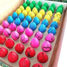 Promociones! creativo regalos de amor 60 unids/lote colorido novedad de la mordaza juguetes mágica linda eclosión creciendo huevos de dinosaurio para los niños / niños(China (Mainland))