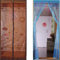 Magnetic stripe bird clasp magnetic soft gauze curtain Encryption anti-mosquito screen window curtain curtain cloth art