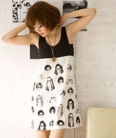 Summer women's 2014 new casual sleeveless vest  dress simple multiplayer head cool sub / color sleeveless m022