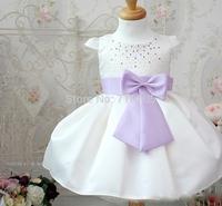 Free shipping  Baby Clothing Dress  Girls Dresses Dress Puff yarn  Princess dress   Round Neck  Cream-colored  Noble