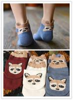 Cute Fox Socks for Girl Cotton Sock  lovely  girl  for girl for women New 2014 Promotion HIGH QUALITY  Fashion to global
