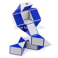 Free shipping!! Shengshou Puzzle Twist Puzzle Toy Magic Snake Shape Toy Game 3D CUBE White+Blue