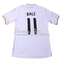 2014 Top Thailand Quality Real Madrid jerseys #11 BALE,Free shipping Real Madrid soccer jerseys home white fans embroidery LOGO