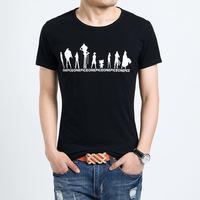 Free shipping 2014 new fashion slim cotton t shirt men