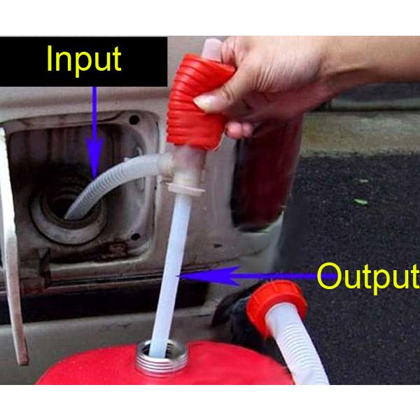 Big Discount !!! Portable Manual Car Siphon Hose Gas Oil Water Liquid Transfer Hand Pump Sucker Free Shipping!(China (Mainland))
