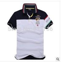 2014 summer men brand  three-dimensional  embroidery 100% Cotton short sleeve t shirt Fashion sport t shirts