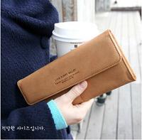 New 2014 Vintage Women Clutch Bag Long Leather Wallets Ladies Designer Purse Checkbook Handbag Fashion Wallet With Card Holder