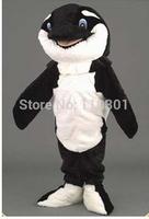2014 Hot Sale cute Whale Orca Whale Mascot Costume Halloween Fursuit Fancy Dress Free Shipping