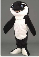 2014 Hot Sale cute Whale Orca Whale Mascot Costume Halloween Fursuit Fancy Dress Free Shipping
