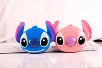 New Arrival Cartoon 3D Stitch Mobile Power 10400 mAh Power Bank Portable Charger Battery For Mobile Phone Free Shipping