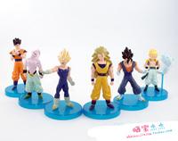 Free Shipping Japanese Anime Dragon Ball Z Buu Gokun Gohan Goten PVC Action Figures Model Dolls Toys set of 6 DBFG069