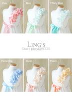 LiNg's Ivory / Cream Lace Organza Wedding Cotton Flower Girl Dress with Hydrangea Strap - For Children Toddler Kids Teen Girls