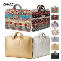 2014 Fashion Canvas 13 13.3 14 14.1 15 15.6 Inch Laptop Briefcase Notebook Handle Bag Netbook Carrying Case For Lady Girl