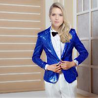 2014 New style Sequins women show suit party wedding host evening club dress dancing suits