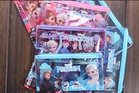 Free Shipping! 3 Colors PVC Frozen Pencil Case, Kids Cartoon Pencil Pounch, Pen Bag,  36pcs/lot