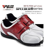 Free Shipping 2014 PGM Men's Golf shoes with Velcro counter new staples