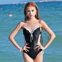 F5810 women's one-piece swimsuit Monokini Underwire push up professional swimwear swimsuit