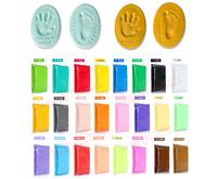 CLAY KEEPSAKE & PHOTO DESKTOP FRAME KIT Handprint Footprint Impression Party Prom Bar Supplies Kids Learning Education Toy 180g