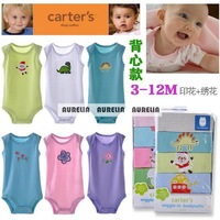 2014 summer autumn 0M-12M Carters Baby Bodysuits sleeveless Carter's boy girl jumpsuit Infant Clothing creppers Body Para Bebe