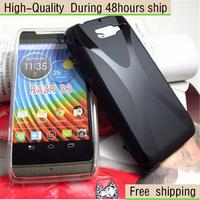 High Quality Soft Gel TPU  X line Skin Cover Case For Motorola RAZR D3 Free Shipping UPS DHL EMS HKPAM CPAM