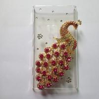 Diamond Phoenix Case for NOKIA Lumia 920 N920  10 Colors Perfect fitting Plastic Transparent Case with Rhinestone Peacock ,