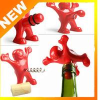 Creative Bar Kitchen wine tool Sex Censorship Happy Man Corkscrew ,Bottle Stopper , Bottle Opener