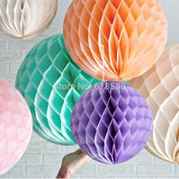 Free Shipping 15pcs 6inches (15cm) Decorative Flowers Paper Lantern  Honeycomb Balls For  Wedding , Kids Birthday Decoratio