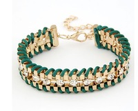 ( Min order is 10usd !) SJB537 Charm Multilayer Woven bracelets & bangles wholesale Free shipping