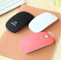 Hot sale Ultra-thin wireless mouse cute cartoon girl notebook desktop