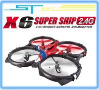 2014 New Syma X6 Super Ship 2.4G 4CH 3D Continuous roll RC Quadcopter RTF VS U816A U818A Drone FPV X350 pro EMS Free Shi boy toy