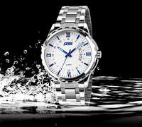 Skmei 9069 watches men luxury brand dive quartz watch Fashion Casual watch Man Full Steel Sports Military relogio Wristwatches