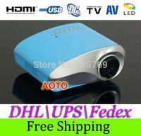 DHL\UPS\Fedex Free Shipping 2014 Arrival Hot Sales Mini Multimedia LED Projector Home Cinema Video 1080P HD AV VGA SD USB HDMI