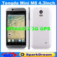 Tengda Mini M8 Phone With MTK6572 Android 4.2 Dual Core 3G GPS WIFI 4.3 Inch Capacitive Screen Smart Phone