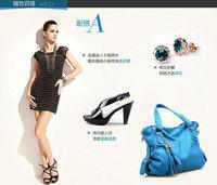 Free Shipping Deluxe Retro Women Hand Bag Tote Leather Hobo Shoulder Bag  Tassel Casual Single  Shoulder   Bag
