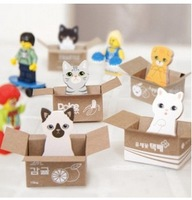 free shipping Korean version of the cute carton Carton notes the notes attached to a small cat | N times stickers | Memo Pad