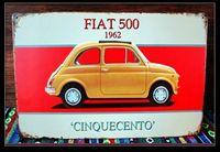 Home decoration FIAT 500 car poster Retro Metal Painting Vintage Tin Signs Bar Pub Cafe Home Art Decor N-79