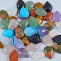 Mixed Stone Rose Quartz/Amethyst/Opal Bead Teardrop CAB Cabochon Jewelry Bead H010