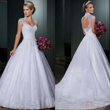 Vestido де noiva бальное платье свадебные платья с открытой спиной Vestido де casamento съемный хвост 2015 свадебное платье одеяние де свадебная