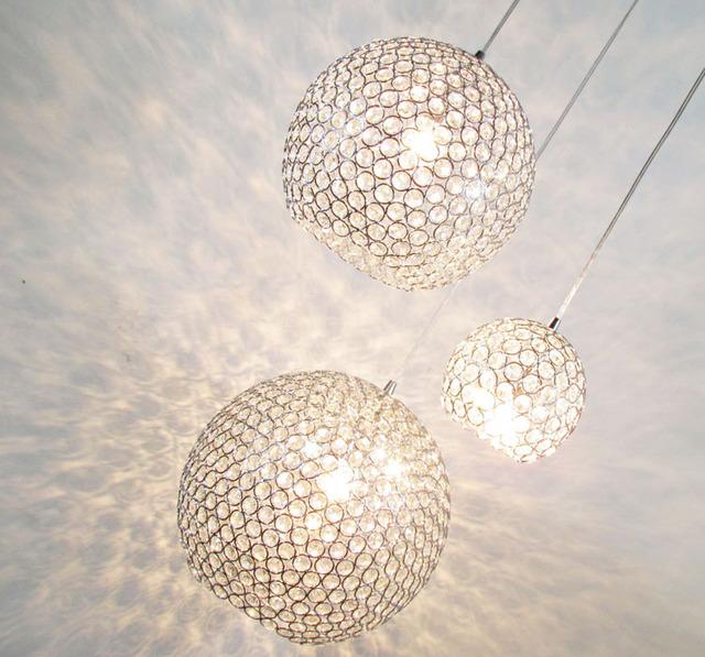 Conception pour éclairage chambre sans plafonnier  en cristal