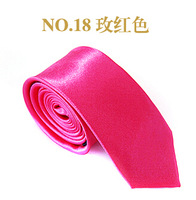 Solid color polyester men neck tie 35 colors free shipping husband birthday gift