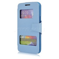 New High quality Dual View Window Leather Case Cover For Alcatel One Touch Scribe Easy 8000D