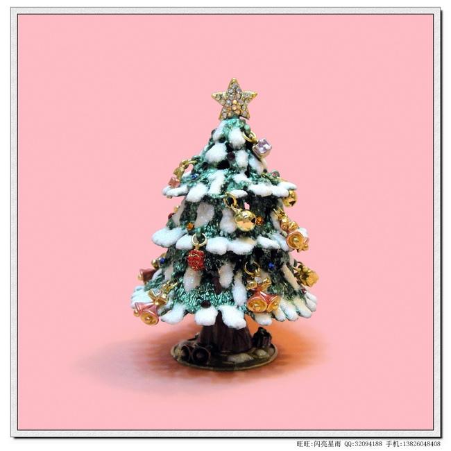 Frete grátis Luckly decora??o de casa , uma árvore de Natal colorido Uma árvore de Natal árvore de natal artesanato caixa de jóias de diamantes(China (Mainland))