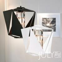 New modern crystal pendant light LED simple pendant lamp with G4*3pcs