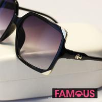 Luxury brand retro H63 Crow heart large box for her trendy retro glasses Men in Black sunglasses wholesale sunglasses yurt  wome